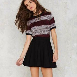 Lioness  Black Flare Mini  Skirt